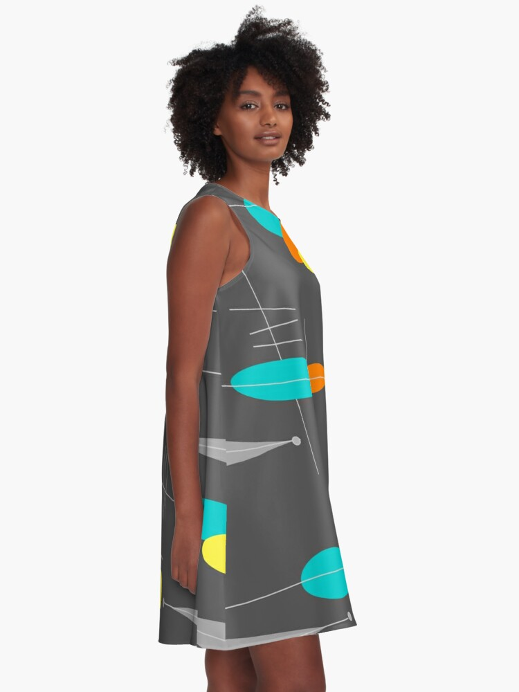 Alternative Ansicht von Spheres and Triangles A-Linien Kleid