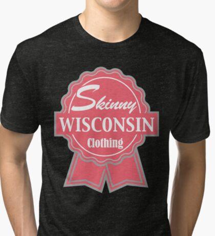 Wisconsin Skinny Pink Badge of Honor Tri-blend T-Shirt