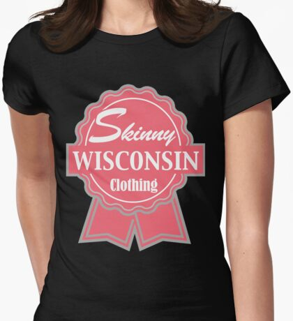 Wisconsin Skinny Pink Badge of Honor T-Shirt