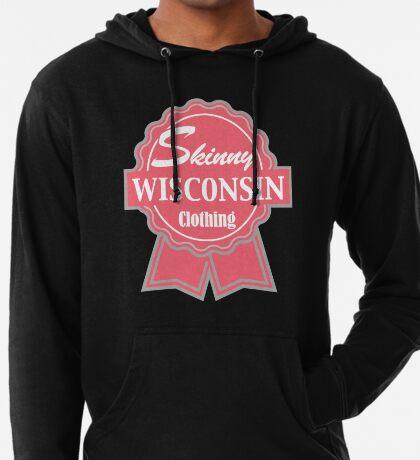 Wisconsin Skinny Pink Badge of Honor Lightweight Hoodie