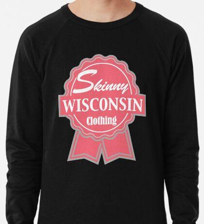 Wisconsin Skinny Pink Badge of Honor Lightweight Sweatshirt