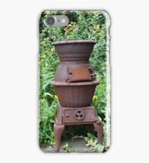 Cast Iron Stove and Wild Flowers iPhone Case/Skin