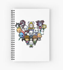 Undertale Characters Spiral Notebooks Redbubble
