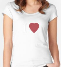 I Heart Cosplay White Text   (Clothing & Stickers)  Women's Fitted Scoop T-Shirt