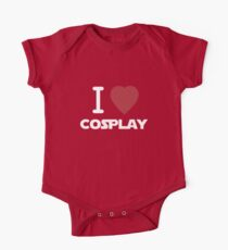 I Heart Cosplay White Text   (Clothing & Stickers)  One Piece - Short Sleeve