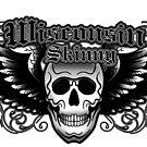 Wisconsin Skinny Winged Skull by wisconsinskinny