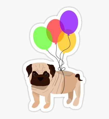 Pug in the sky Sticker