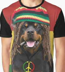 Rasta Dog Graphic T-Shirt