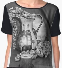 Tour of Italy in Black and White Women's Chiffon Top