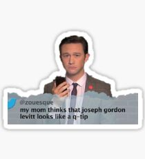 Joseph Gordon Levitt Looks like  Q Tip Sticker