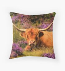 Highland and Heather Throw Pillow
