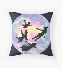 Never Grow Up Peter Pan Neverland Throw Pillow
