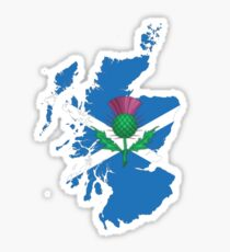 Scottish thistle & map. Sticker