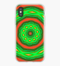 Orange and Green Circles iPhone Case