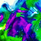 Repensentational digital Abstract of Purple Green and Blue by schiabor