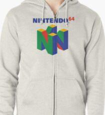 Nintendo 64 Logo  Zipped Hoodie