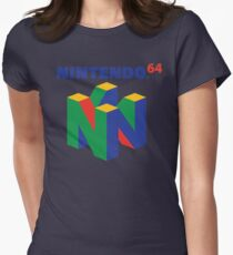 Nintendo 64 Logo  Womens Fitted T-Shirt