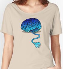 Your Brain without Coffee - Blue Women's Relaxed Fit T-Shirt