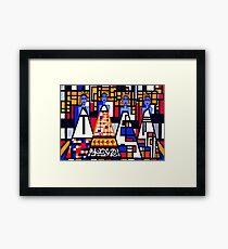 Mondrian Mothers Framed Print