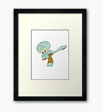 Squidward Dab Framed Print
