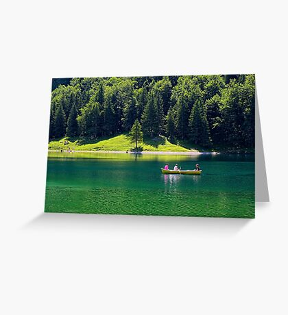 A Boat Ride on the Lake Greeting Card