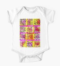 Painted Squares Art with Ornament One Piece - Short Sleeve