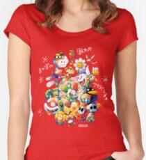 Yoshi's Island 2 - スーパーマリオ ヨッシーアイランド Women's Fitted Scoop T-Shirt