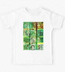 Painted Squares Art with Ornament 2 Kids Tee