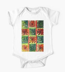 Painted Squares Art with Ornament 3 Kids Clothes