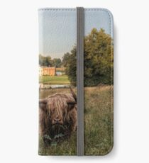 Highland Cow at Avington Park, Hampshire iPhone Wallet/Case/Skin