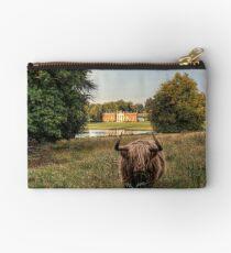 Highland Cow at Avington Park, Hampshire Zipper Pouch