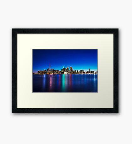 Toronto Skyline 4 Framed Print