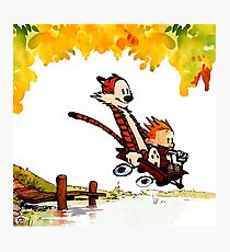 Play on lake Calvin and Hobbes Photographic Print