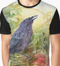 Autumn Hedgerow Graphic T-Shirt