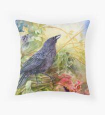 Autumn Hedgerow Throw Pillow