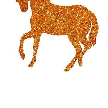 Orange Holo Glitter Unicorn by Lilxpie