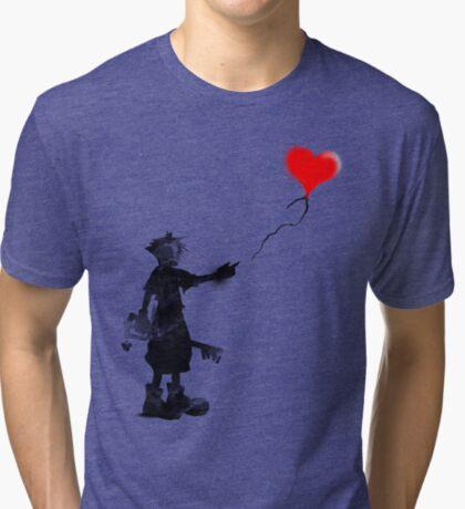 the boy,the key,the balloon Tri-blend T-Shirt