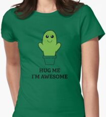 Hug Me, I'm Awesome Womens Fitted T-Shirt