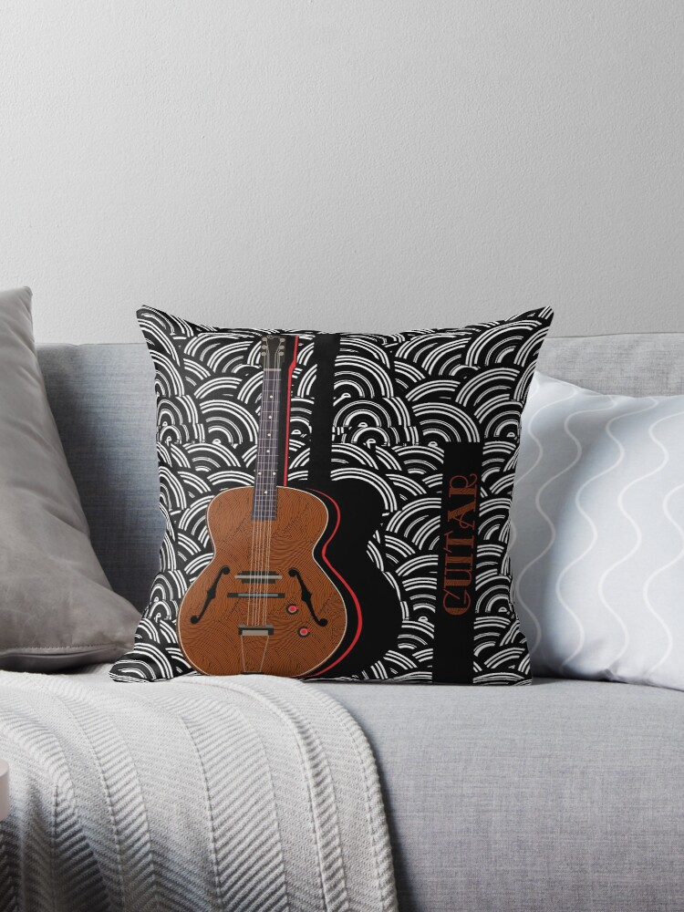 Guitar Grooves Pop Art Deco by CecelyBloom
