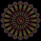 Kaleidoscope Mandala with Red Gemstone by WelshPixie