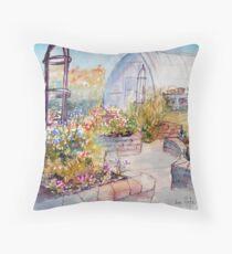 A friends garden Throw Pillow