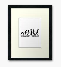 Evolution Football Framed Print