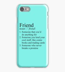 Stranger Things Friend Definition iPhone Case/Skin