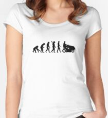 Evolution lawn mower Women's Fitted Scoop T-Shirt