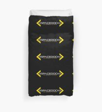 Spacedock Landscape Logo Duvet Cover