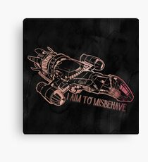 I Aim to Misbehave with Background Canvas Print