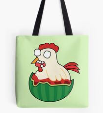 zombie watermelon chicken Tote Bag