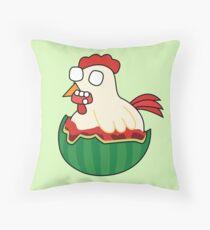 zombie watermelon chicken Throw Pillow