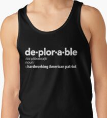 Deplorable Definition: Hardworking American Patriot Tank Top
