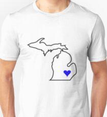 Michigan Love - Blue  Unisex T-Shirt